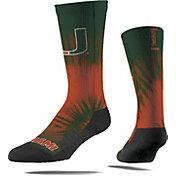 Strideline Miami Hurricanes Tie Dye Crew Socks