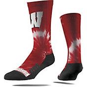 Strideline Wisconsin Badgers Tie Dye Crew Socks