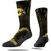 Strideline Iowa Hawkeyes Tie Dye Crew Socks