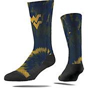 Strideline West Virginia Mountaineers Tie Dye Crew Socks