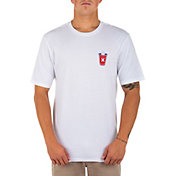 Hurley Men's Washed Red White and Brew Short Sleeve Shirt