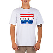 Hurley Men's Washed USA Bars Short Sleeve Shirt