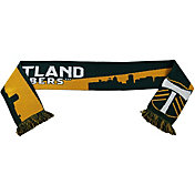 Ruffneck Scarves Portland Timbers Sky Knit Green Scarf