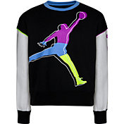 Jordan Girls' Color Outside The Lines Crewneck Sweatshirt