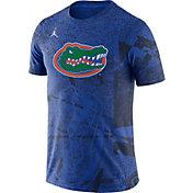 Jordan Men's Florida Gators Blue Football Team Issue Practice T-Shirt