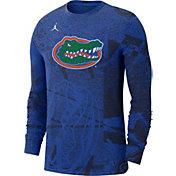 Jordan Men's Florida Gators Blue Football Team Issue Practice Long Sleeve T-Shirt