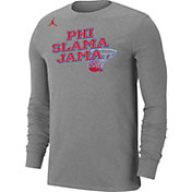 Jordan Men's Houston Cougars Grey 'Phi Slama Jama' Long Sleeve Basketball T-Shirt