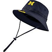 Jordan Men's Michigan Wolverines Blue Dri-FIT Football Sideline Bucket Hat