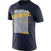 Jordan Men's Michigan Wolverines Blue Football Team Issue T-Shirt