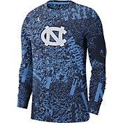 Jordan Men's North Carolina Tar Heels Carolina Blue Football Team Issue Practice Long Sleeve T-Shirt