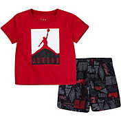 Jordan Little Boys' Air Elements T-Shirt and All Over Print Shorts Set