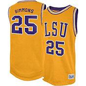 Retro Brand Men's LSU Tigers Ben Simmons #25 Gold Replica Basketball Jersey