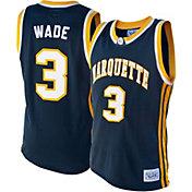 Original Retro Brand Men's Marquette Golden Eagles Dwayne Wade #3 Blue Replica Basketball Jersey