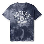 League-Legacy Men's Auburn Tigers Blue Tie Dye T-Shirt
