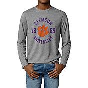 League-Legacy Men's Clemson Tigers Grey Reclaim Long Sleeve T-Shirt