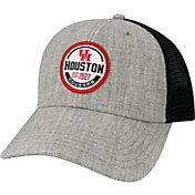 League-Legacy Men's Houston Cougars Grey Lo-Pro Adjustable Trucker Hat