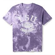 League-Legacy Men's LSU Tigers Purple Tie Dye T-Shirt