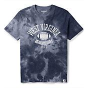 League-Legacy Men's West Virginia Mountaineers Blue Tie Dye T-Shirt
