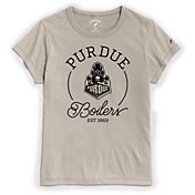League-Legacy Women's Purdue Boilermakers Grey Re-Spin T-Shirt