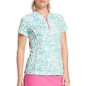 Lady Hagen Women's Tropical Linear Palm Golf Polo