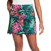 Lady Hagen Women's Tropical Palm Scalloped 17'' Golf Skort
