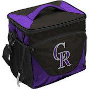 Logo Colorado Rockies 24 Can Cooler