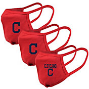 Levelwear Adult Cleveland Indians Red 3-Pack Face Coverings