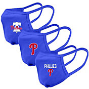 Levelwear Adult Philadelphia Phillies Blue 3-Pack Face Coverings