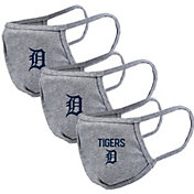 Levelwear Adult Detroit Tigers Grey 3-Pack Face Coverings
