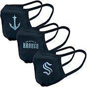 Levelwear Adult Seattle Kraken 3-Pack Face Coverings