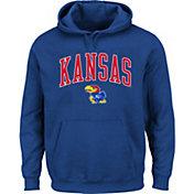 Majestic Men's Big and Tall Kansas Jayhawks Blue Pullover Hoodie