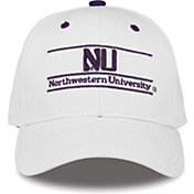 The Game Men's Northwestern Wildcats White Bar Adjustable Hat