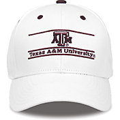 The Game Men's Texas A&M Aggies White Bar Adjustable Hat