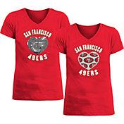 New Era Apparel Girl's San Francisco 49ers Sequins Heart Red T-Shirt