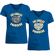 New Era Apparel Girl's Los Angeles Chargers Sequins Heart Blue T-Shirt