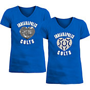 New Era Apparel Girl's Indianapolis Colts Sequins Heart Blue T-Shirt