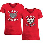 New Era Apparel Girl's Atlanta Falcons Sequins Heart Red T-Shirt