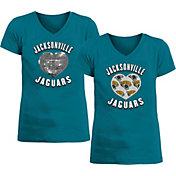 New Era Apparel Girl's Jacksonville Jaguars Sequins Heart Teal T-Shirt