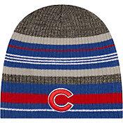 New Era Men's Chicago Cubs Blue Striped Knit Beanie