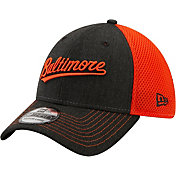 New Era Men's Baltimore Orioles Black 39Thirty Heathered Stretch Fit Hat