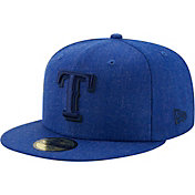 New Era Men's Texas Rangers 59Fifty Blue Heather Classic Fitted Hat