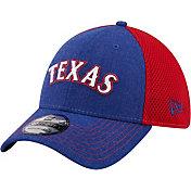 New Era Men's Texas Rangers 39Thirty Blue Heathered Stretch Fit Hat