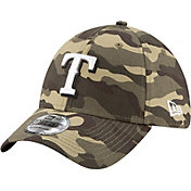 New Era Men's Texas Rangers Camo Armed Forces 39Thirty Fitted Hat