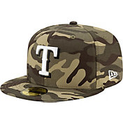 New Era Men's Texas Rangers Camo Armed Forces 59Fifty Fitted Hat