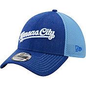 New Era Men's Kansas City Royals Blue 39Thirty Heathered Stretch Fit Hat