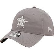 New Era Men's Houston Astros Grey Core Classic 9Twenty Adjustable Hat