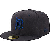New Era Men's Detroit Tigers 59Fifty Navy Heather Classic Fitted Hat