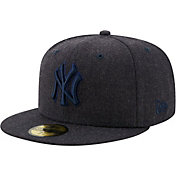 New Era Men's New York Yankees 59Fifty Navy Heather Classic Fitted Hat