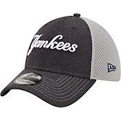 New Era Men's New York Yankees Navy 39Thirty Heathered Stretch Fit Hat