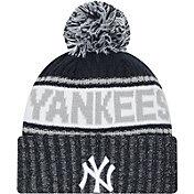 New Era Men's New York Yankees Navy Marl Knit Beanie